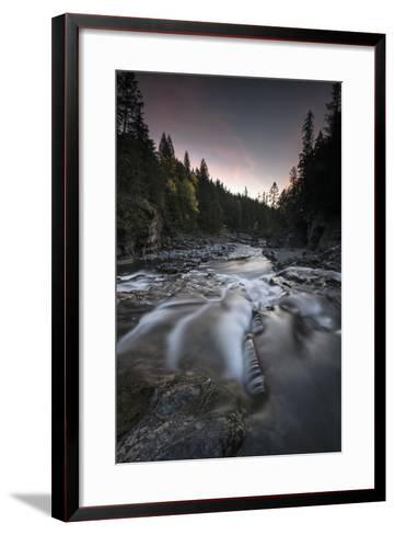 Cascading Mcdonald Creek in Montana's Glacier National Park-Keith Ladzinski-Framed Art Print