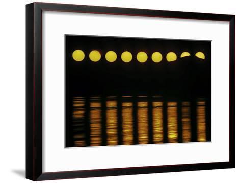 The Exotic Motion of the Midnight Sun over the Northern Horizon Above the Norwegian Sea-Babak Tafreshi-Framed Art Print