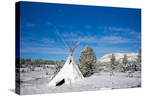 Fallen Snow on a Teepee in Beartooth, Wyoming-Charlie James-Stretched Canvas Print