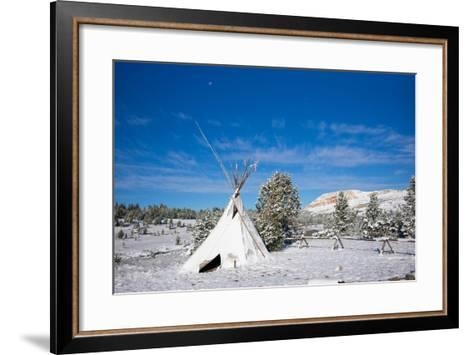 Fallen Snow on a Teepee in Beartooth, Wyoming-Charlie James-Framed Art Print