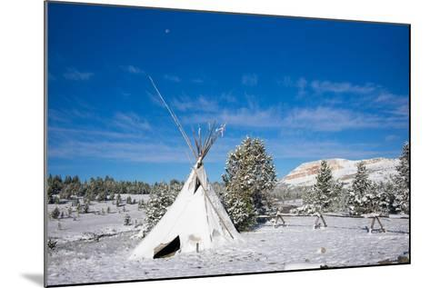Fallen Snow on a Teepee in Beartooth, Wyoming-Charlie James-Mounted Photographic Print