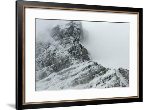 Cloudscape over Snowcovered Rocky Mountain of Athabasca Glacier-Raul Touzon-Framed Art Print