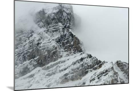 Cloudscape over Snowcovered Rocky Mountain of Athabasca Glacier-Raul Touzon-Mounted Photographic Print