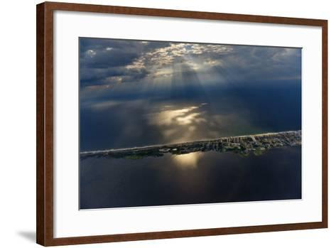 Hatteras Island Forms a Slender Barrier Between the Mainland and the Open Ocean-Keith Ladzinski-Framed Art Print