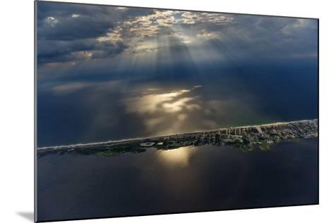 Hatteras Island Forms a Slender Barrier Between the Mainland and the Open Ocean-Keith Ladzinski-Mounted Photographic Print