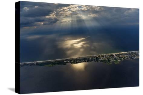 Hatteras Island Forms a Slender Barrier Between the Mainland and the Open Ocean-Keith Ladzinski-Stretched Canvas Print
