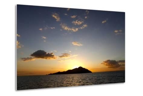 Scenic View of Mamanuca Islands During Sunset in Fiji-Jill Schneider-Metal Print