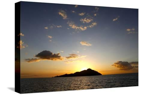 Scenic View of Mamanuca Islands During Sunset in Fiji-Jill Schneider-Stretched Canvas Print