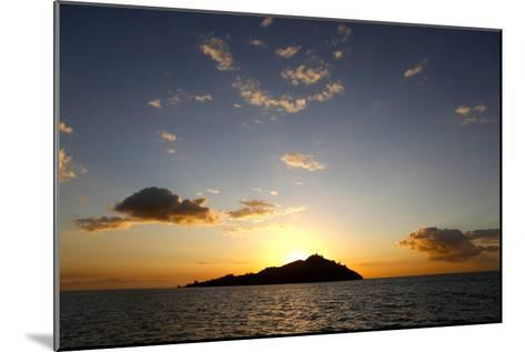 Scenic View of Mamanuca Islands During Sunset in Fiji-Jill Schneider-Mounted Photographic Print