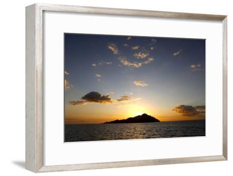 Scenic View of Mamanuca Islands During Sunset in Fiji-Jill Schneider-Framed Art Print
