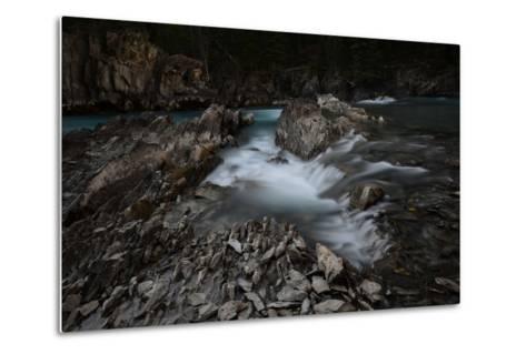 Natural Bridge over Kicking Horse River in Alberta, Canada-Raul Touzon-Metal Print