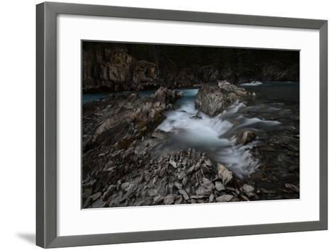 Natural Bridge over Kicking Horse River in Alberta, Canada-Raul Touzon-Framed Art Print