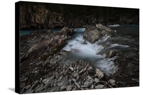 Natural Bridge over Kicking Horse River in Alberta, Canada-Raul Touzon-Stretched Canvas Print