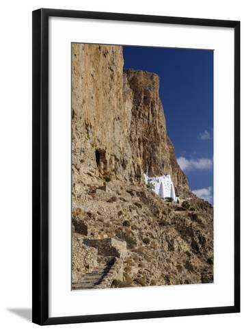 Hozoviotissa Monastery in Amorgos, Greece-Krista Rossow-Framed Art Print