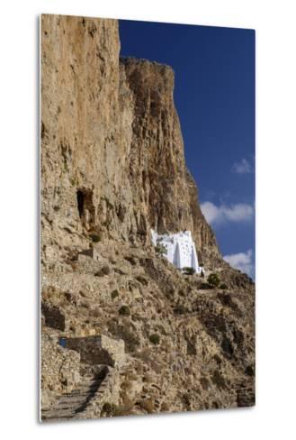 Hozoviotissa Monastery in Amorgos, Greece-Krista Rossow-Metal Print