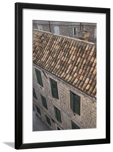 Dubrovnik's Old Town on the Dalmatian Coast in Croatia-Krista Rossow-Framed Art Print