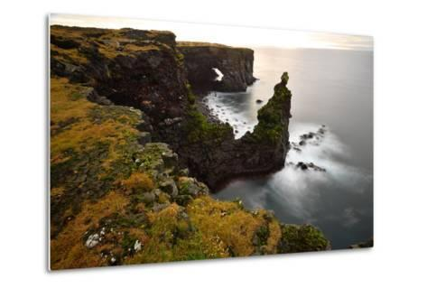 Sea Arch at Sxaholsbarg in Iceland-Raul Touzon-Metal Print