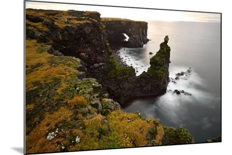Sea Arch at Sxaholsbarg in Iceland-Raul Touzon-Mounted Photographic Print
