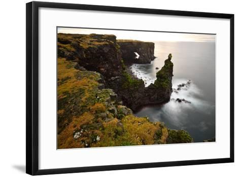 Sea Arch at Sxaholsbarg in Iceland-Raul Touzon-Framed Art Print