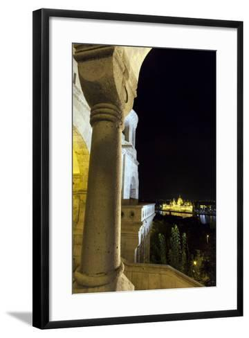 Hungarian Parliament in Budapest from Buda Castle-Babak Tafreshi-Framed Art Print