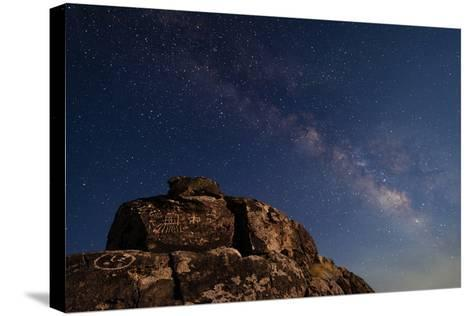 The Summer Milky Way and Ancient Native American Petroglyph-Babak Tafreshi-Stretched Canvas Print
