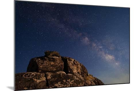 The Summer Milky Way and Ancient Native American Petroglyph-Babak Tafreshi-Mounted Photographic Print