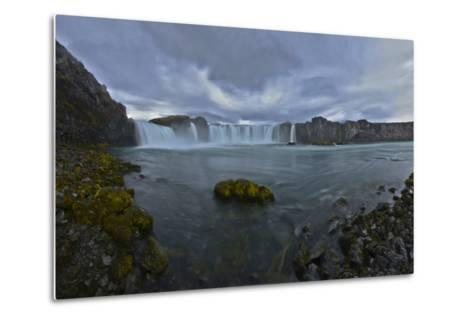 Scenic View of Godafoss Waterfall in Iceland-Raul Touzon-Metal Print