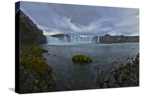 Scenic View of Godafoss Waterfall in Iceland-Raul Touzon-Stretched Canvas Print