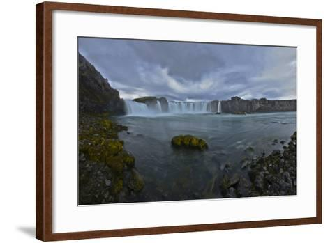 Scenic View of Godafoss Waterfall in Iceland-Raul Touzon-Framed Art Print