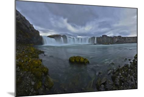 Scenic View of Godafoss Waterfall in Iceland-Raul Touzon-Mounted Photographic Print