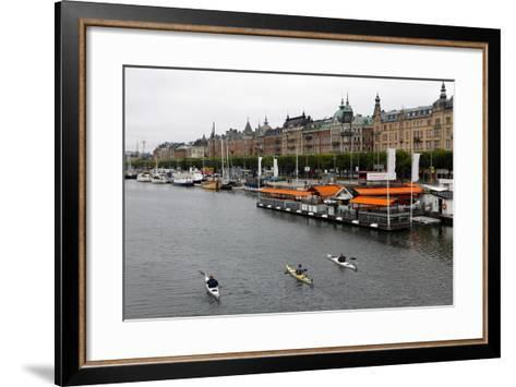High Angle View of People Kayaking in Stockholm-Jill Schneider-Framed Art Print