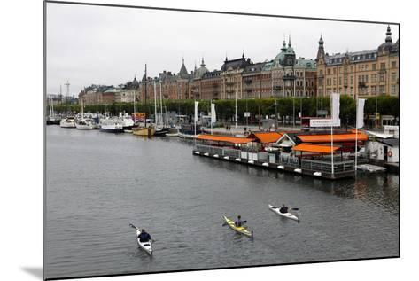 High Angle View of People Kayaking in Stockholm-Jill Schneider-Mounted Photographic Print