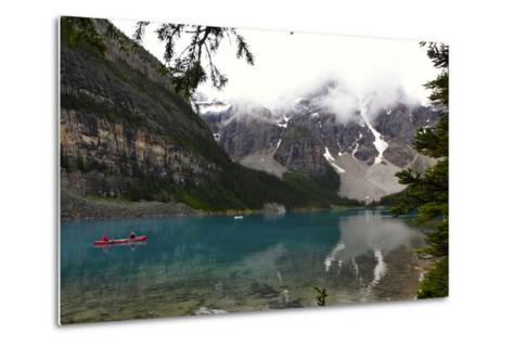 View of Moraine Lake in Alberta, Canada-Jill Schneider-Metal Print
