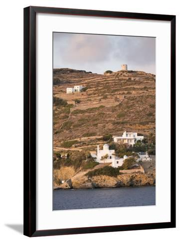 A Tiny Village on the Cycladic Island of Amorgos in Greece-Krista Rossow-Framed Art Print