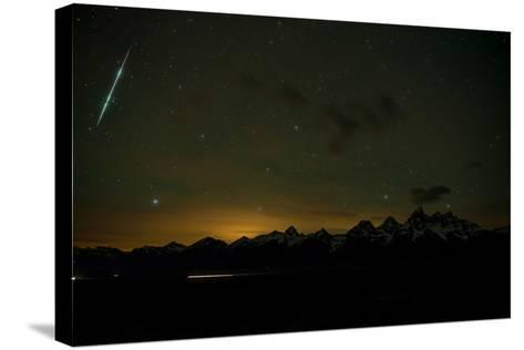 Stars Fill the Sky over Mountains-Prasenjeet Yadav-Stretched Canvas Print