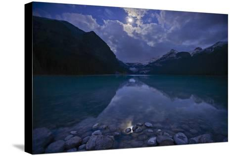 Lake Louise at Dawn in Alberta, Canada-Raul Touzon-Stretched Canvas Print