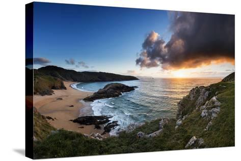 Scenic View of Murder Hole Beach in Donegal, Ireland-Chris Hill-Stretched Canvas Print