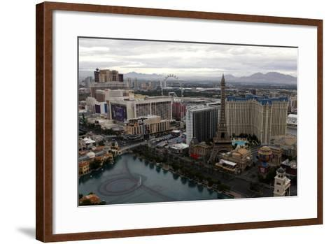 Aerial View of Las Vegas at Sunrise in Nevada, USA-Jill Schneider-Framed Art Print
