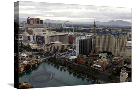 Aerial View of Las Vegas at Sunrise in Nevada, USA-Jill Schneider-Stretched Canvas Print