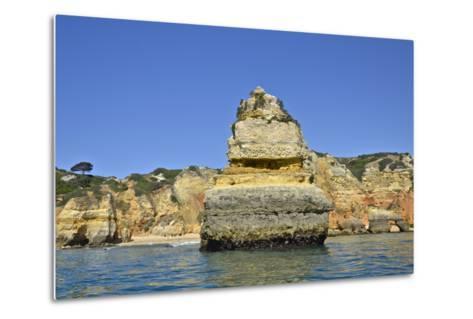 Ponta Da Piedade on the Algarve Coast-Kike Calvo-Metal Print