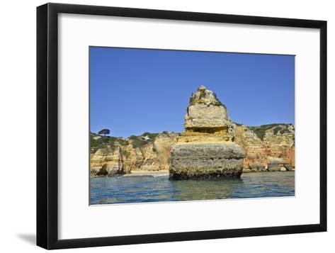 Ponta Da Piedade on the Algarve Coast-Kike Calvo-Framed Art Print