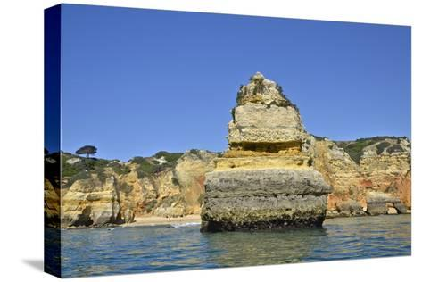 Ponta Da Piedade on the Algarve Coast-Kike Calvo-Stretched Canvas Print