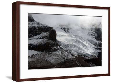Snowy Landscape in Athabasca Glacier, Alberta, Canada-Raul Touzon-Framed Art Print