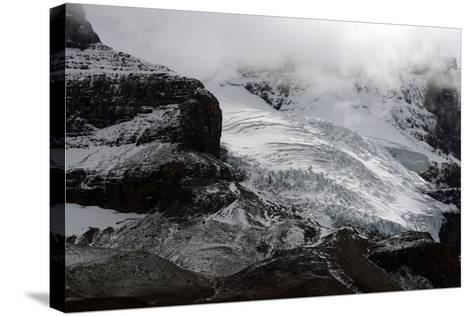 Snowy Landscape in Athabasca Glacier, Alberta, Canada-Raul Touzon-Stretched Canvas Print