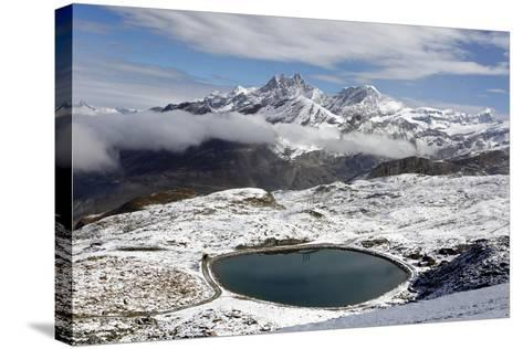 View of the Snowy Swiss Alps in Switzerland-Jill Schneider-Stretched Canvas Print