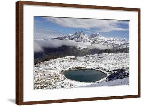 View of the Snowy Swiss Alps in Switzerland-Jill Schneider-Framed Art Print