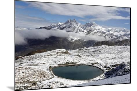 View of the Snowy Swiss Alps in Switzerland-Jill Schneider-Mounted Photographic Print