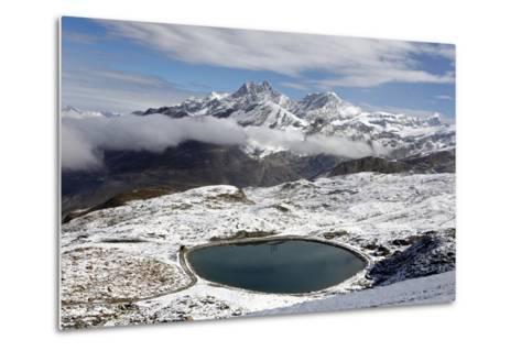 View of the Snowy Swiss Alps in Switzerland-Jill Schneider-Metal Print
