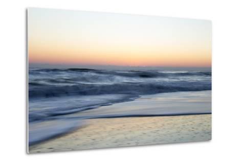 Churning Waves Crash onto the Shores of Pea Island-Robbie George-Metal Print