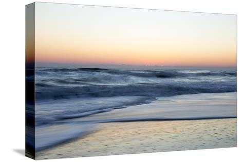 Churning Waves Crash onto the Shores of Pea Island-Robbie George-Stretched Canvas Print